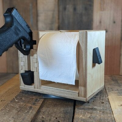 Toilet Paper Holder – Pistol Rest – CYA – Cover Your Ass